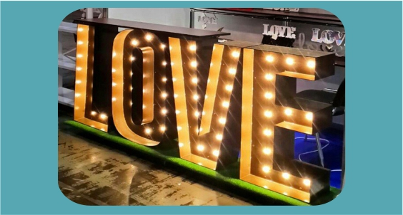 Rent LED love-letters